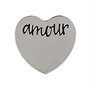 Picture of 'Amour' Medium Silver Heart Coin